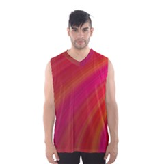 Abstract Red Background Fractal Men s Basketball Tank Top