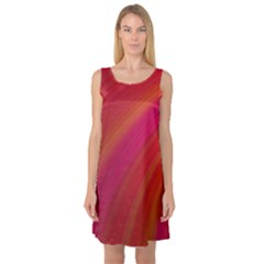 Abstract Red Background Fractal Sleeveless Satin Nightdress