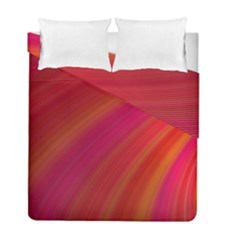 Abstract Red Background Fractal Duvet Cover Double Side (full/ Double Size)