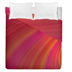 Abstract Red Background Fractal Duvet Cover Double Side (queen Size)