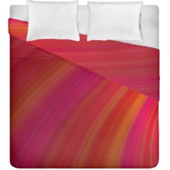 Abstract Red Background Fractal Duvet Cover Double Side (king Size)