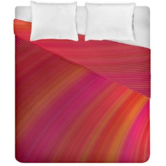 Abstract Red Background Fractal Duvet Cover Double Side (california King Size)
