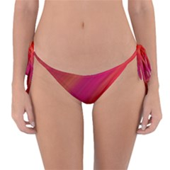 Abstract Red Background Fractal Reversible Bikini Bottom