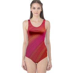 Abstract Red Background Fractal One Piece Swimsuit