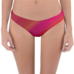 Abstract Red Background Fractal Reversible Hipster Bikini Bottoms