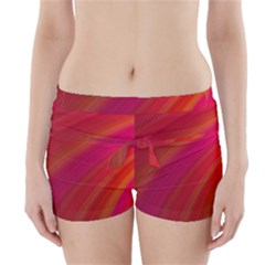 Abstract Red Background Fractal Boyleg Bikini Wrap Bottoms