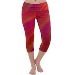 Abstract Red Background Fractal Capri Yoga Leggings