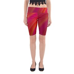 Abstract Red Background Fractal Yoga Cropped Leggings