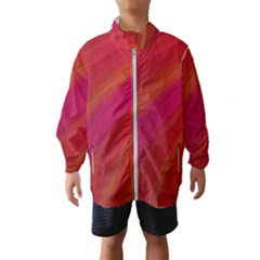 Abstract Red Background Fractal Wind Breaker (kids)