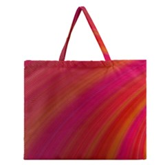 Abstract Red Background Fractal Zipper Large Tote Bag