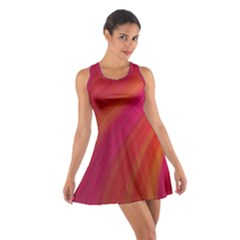 Abstract Red Background Fractal Cotton Racerback Dress