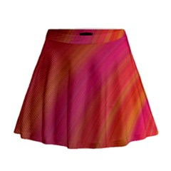 Abstract Red Background Fractal Mini Flare Skirt