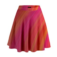 Abstract Red Background Fractal High Waist Skirt