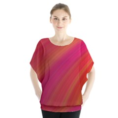 Abstract Red Background Fractal Blouse