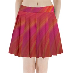 Abstract Red Background Fractal Pleated Mini Skirt