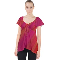 Abstract Red Background Fractal Lace Front Dolly Top