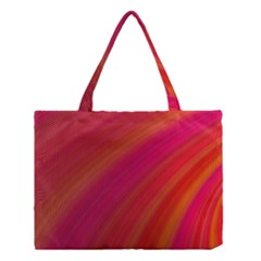 Abstract Red Background Fractal Medium Tote Bag