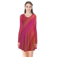 Abstract Red Background Fractal Flare Dress