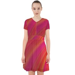 Abstract Red Background Fractal Adorable In Chiffon Dress
