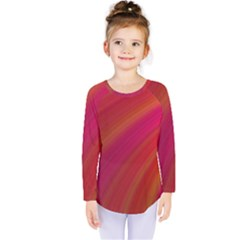 Abstract Red Background Fractal Kids  Long Sleeve Tee