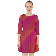 Abstract Red Background Fractal Smock Dress