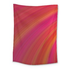 Abstract Red Background Fractal Medium Tapestry
