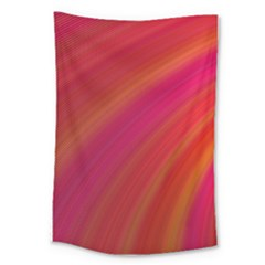 Abstract Red Background Fractal Large Tapestry