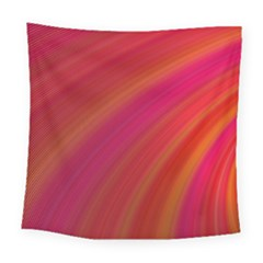 Abstract Red Background Fractal Square Tapestry (large)