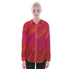 Abstract Red Background Fractal Womens Long Sleeve Shirt