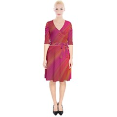 Abstract Red Background Fractal Wrap Up Cocktail Dress