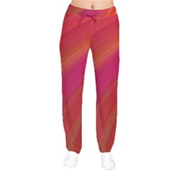 Abstract Red Background Fractal Drawstring Pants