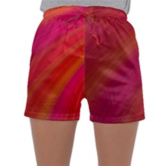 Abstract Red Background Fractal Sleepwear Shorts