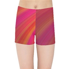 Abstract Red Background Fractal Kids Sports Shorts