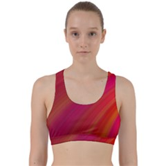 Abstract Red Background Fractal Back Weave Sports Bra