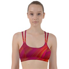 Abstract Red Background Fractal Line Them Up Sports Bra