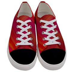 Abstract Red Background Fractal Women s Low Top Canvas Sneakers