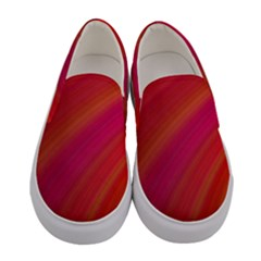 Abstract Red Background Fractal Women s Canvas Slip Ons