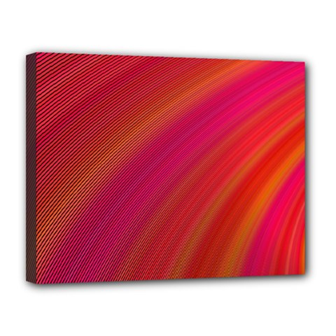 Abstract Red Background Fractal Canvas 14  X 11  by Nexatart