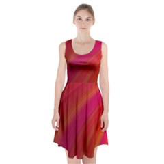 Abstract Red Background Fractal Racerback Midi Dress
