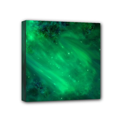 Green Space All Universe Cosmos Galaxy Mini Canvas 4  X 4