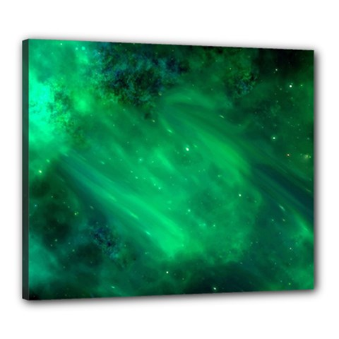 Green Space All Universe Cosmos Galaxy Canvas 24  X 20