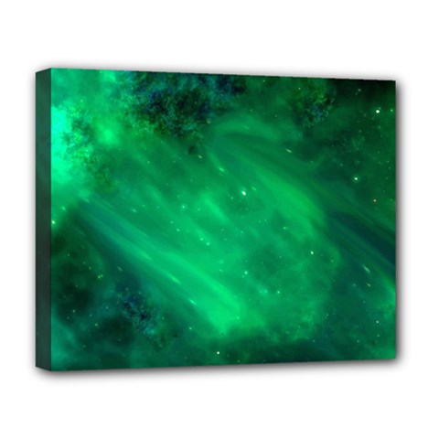 Green Space All Universe Cosmos Galaxy Deluxe Canvas 20  X 16