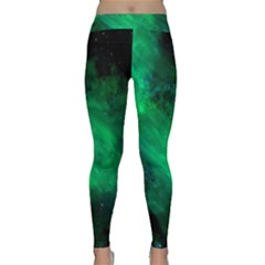 Green Space All Universe Cosmos Galaxy Classic Yoga Leggings