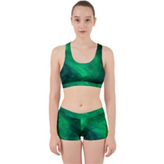 Green Space All Universe Cosmos Galaxy Work It Out Sports Bra Set