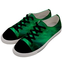 Green Space All Universe Cosmos Galaxy Men s Low Top Canvas Sneakers by Nexatart