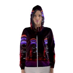 Moscow Night Lights Evening City Hooded Wind Breaker (women)