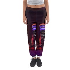 Moscow Night Lights Evening City Women s Jogger Sweatpants