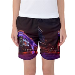 Moscow Night Lights Evening City Women s Basketball Shorts