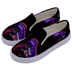 Moscow Night Lights Evening City Kids  Canvas Slip Ons by Nexatart