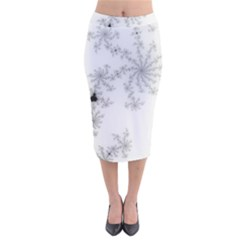 Mandelbrot Apple Males Mathematics Velvet Midi Pencil Skirt